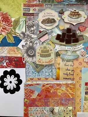 Junk Journal Kit 75 + Items Vintage Papers Stickers Quotes Scrapbook Papers #7
