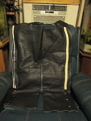 "Black Motorcycle Riding Chaps ""HOT LEATHERS""  XXL"