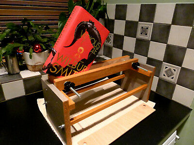 Bookbinding Press. Book Fore Edge Painting Clamp.Wooden Book Press Clamp A4 plus