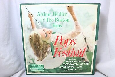 "A7 Arthur Fiedler and The Boston Pops - "" Pops festival "" 10 LPs 1967 Vinyl"