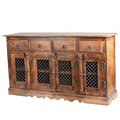 Antique Solid Sideboard Cabinet With 4 Drawers