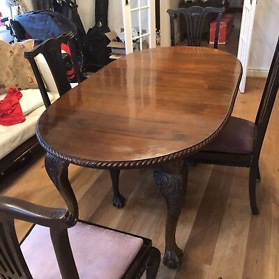 Antique Mahogany Dining Table And 4 chairs