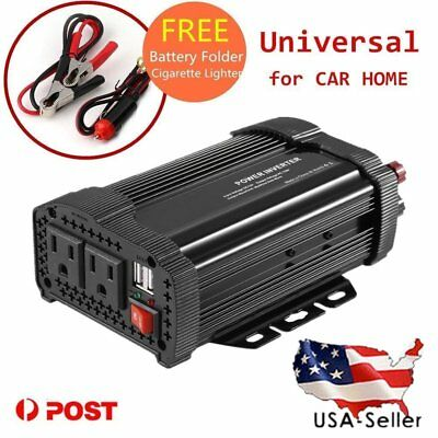 1000W Car Power Inverter DC 12V To AC 110V Dual USB 2.4A 5V Charger Adapter XP