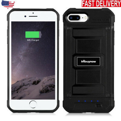 For iPhone 6 6s 7 Plus Battery Charging Case External Power Bank Charger Cover