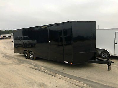 8.5X24 Enclosed Car Hauler Race Ready Trailer  Loaded With Options And In Stock