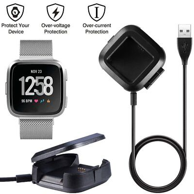 Smart Watch Charging Cradle Base Charger USB Charging Cable For Fitbit Versa DE