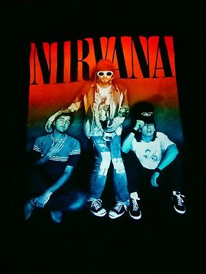 Nirvana Hoody Sz L Unisex Grunge Live The Dream Awesome Heavy Metal Rock Hood