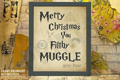 Merry Christmas Filthy Muggle Harry Potter Gift Present Canvas Print