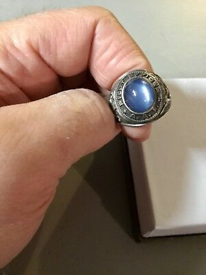Original WWII USAAF PILOT OFFICER Sterling Silver and Gemstone Ring