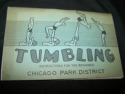1964 Chicago Park District Recreation Tumbling Instruction Booklet