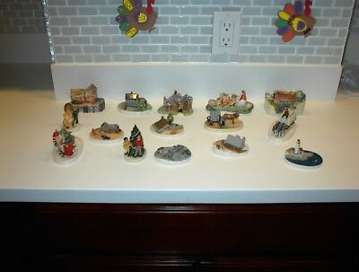 Lot Of 15 Small Chalkware Figurines By P.w. Baston (Sebastian) See Pictures