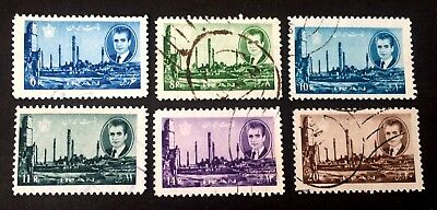 6 nice very old used stamps Persian Empire Shah ایران