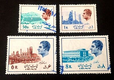 4 nice very old used stamps Persian Empire Shah C07