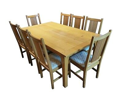 Stickley - Contemporary Drawtop Butterfly Dining Table With 8 Chairs & 2 Leaves