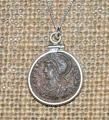 Authentic Ancient Roman Coin Constantine the Great Constantinopolis 925 Necklace
