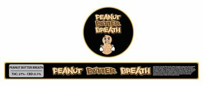 10x Peanut Butter Breath Presstin 100ml Cali Tin Labels