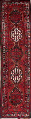 CLEARANCE 3x12 Oriental Wool Meshkin Runner Rug Palace Sized Geometric Red