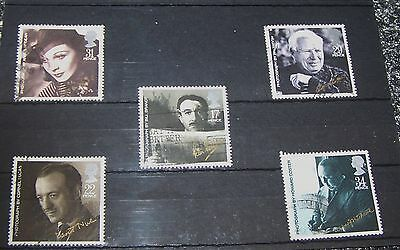 Set Of Five British Film Star  Stamps