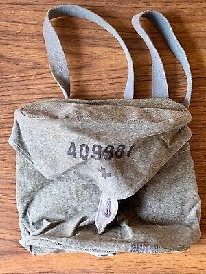 Vintage WWII Musette Medic Satchel Canvas Medical Bag Sewn Pockets Genuine WW2