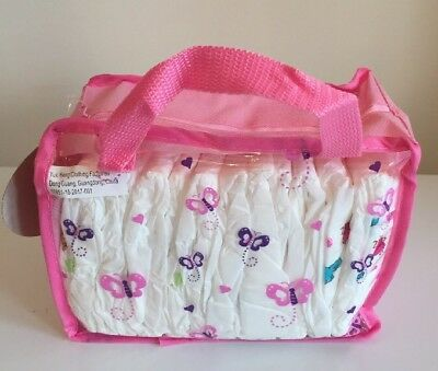 Baby Doll Diapers With Bag For Baby Alive Dolls 12 Pc.