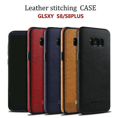 New ShockProof PU Leather Rugged Case Cover for Samsung Galaxy S7 & S8 Plus & S6
