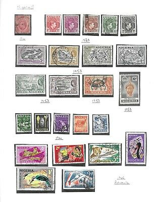 Nigeria collection 44 stamps, mainly used, 1914 - 1993
