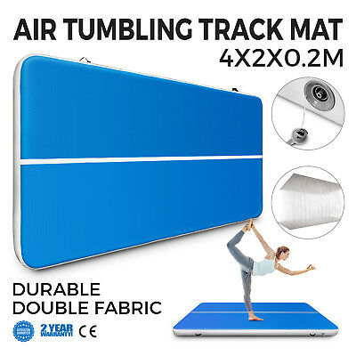 13Ft Air Track Floor Tumbling Inflatable Gym Mat Training Water Sport AirTrack