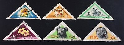 6 nice old triangle stamps