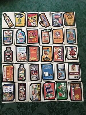Wacky Packages Complete Series 3 Tan Back Sticker Set