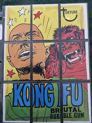 Wacky Packages Complete Series 8 Checklist Puzzle Set - Kong Fu