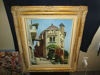 Vintage Original Oil Painting Holland Dutch Wood Gesso Frame