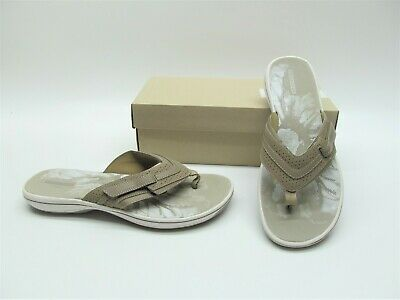 6c6fbb0d4d137d Clarks Brinkley Keeley Grey Thongs Flip Flops Sandals Casual Shoes Womens 10