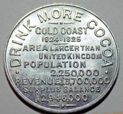 1924-25 British Empire Exhibition Souvenir Token, Medal - Gold Coast Cocoa