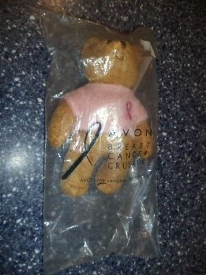 "AVON Breast Cancer Crusade Stuffed 6"" Bear - Sealed Bag - New"