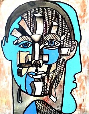 Lost Of Reason ( Illusions)  Original Painting By R West.W/COA.