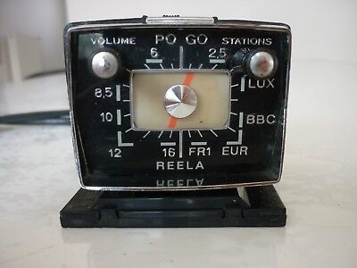 RARE radio vintage REELA tableau de bord voiture collection