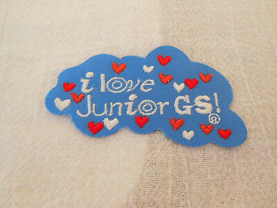 "Girl Scouts ""I Love Junior GS!""  Iron On Patch"