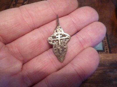 Late Medieval Byzantine Style Bronze Cross-British Detecting Find