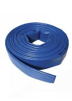 "Lay Flat Hose 50 m 2"" PVC Water Delivery Discharge Pipe Pump Reinforced Stand"