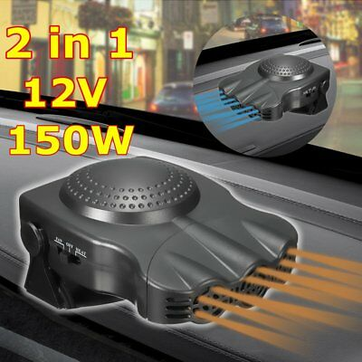 New Style 12V 150W Portable Car Heating Cooling Fan Heater Defroster Demister Q