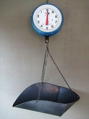 Antique Hanging Scale PENN MFG CO 20 lb Vintage Double Face Country Store, Tray