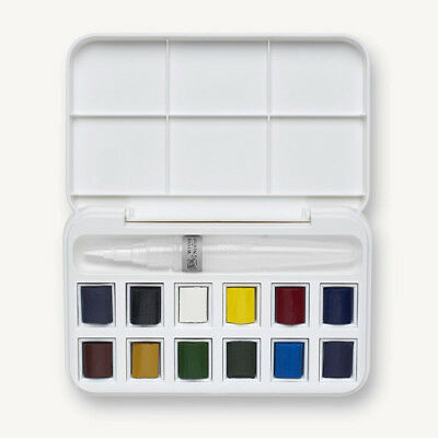 Winsor and Newton Cotman Half Pan Watercolour Gift Set + Brush Pen.