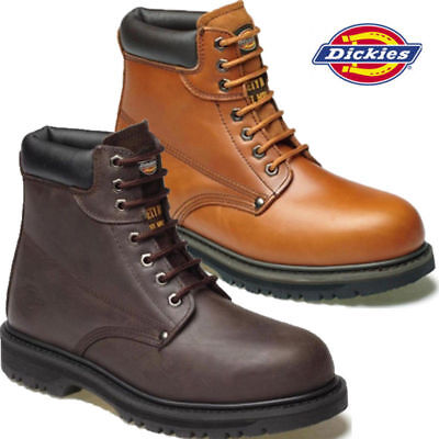 d133663d202 NEW MENS DICKIES Cleveland Midsole Steel Toe Cap Work Ankle Safety Boots  Shoes Z