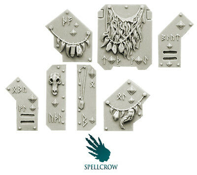 SPELLCROW Furry Wolves Cloaks BITS BITZ 28mm COMPATIBLE SPACE KNIGHTS CAPE PDT