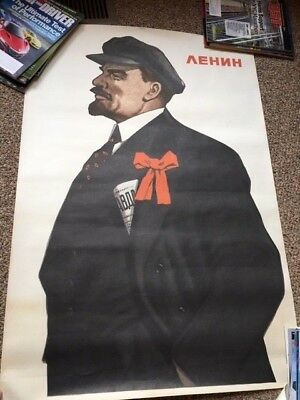 Vintage Life-size Poster of Soviet Leader Lenin (1977) Original from USSR