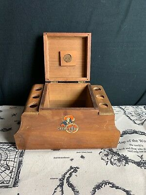 Vintage University Of Virginia Cavaliers 6 Pipe Holder Stand Tobacco Humidor