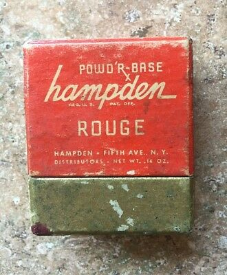 Vintage POWD'R-BASE hampden Rouge Fifth Avenue N.Y. Made in USA