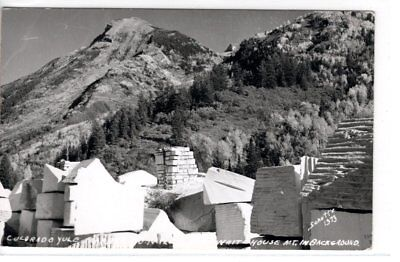 Colorado, Marble-Yule Quarry-With Mt. Whitehouse In Background Rppc Postcard