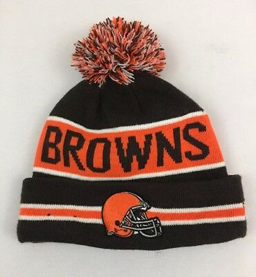 best service ae38c 947e2 Cleveland Browns Beanie Cap Hat Nfl Football New Era Cuffed Knit On Field.  T1