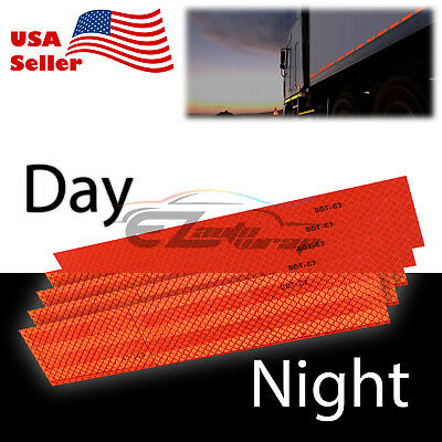 Red DOT-C2 Conspicuity Reflective Tape Strip 1 Foot Safety Warning Trailer RV